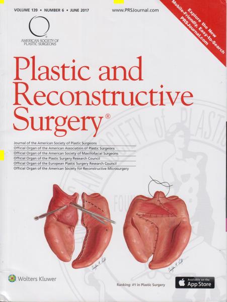 """""""整形與重建外科期刊""""(Plastic and Reconstructive Surgery)封面"""