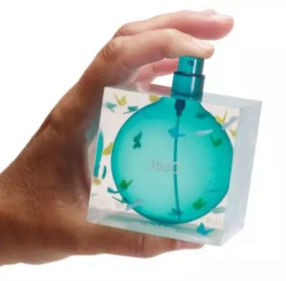 香水瓶 (逼真的透明概念模型)