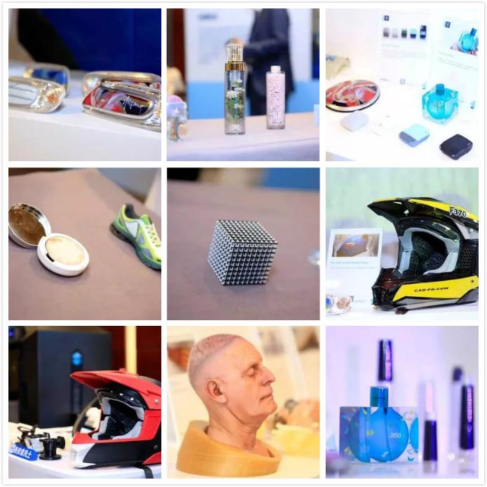 现场展示3D打印产品涉及汽车、教育、医疗、日用品等多种领域。-活动回顾