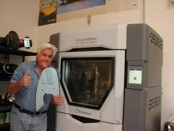 喜剧演员杰·雷诺(Jay Leno)正在积极使用Stratasys 3d打印技术