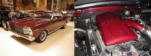 左:1966年福特Galaxie右:进气静压箱